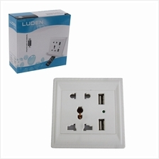 13A Multifunctional Switched Socket With 2 USB Interface