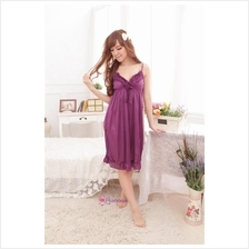 Ice Silk Sexy Nightie Lingerie Sleepwear Dress L7065 (6 Colours)