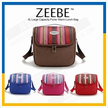 ZEEBE 6L Large Insulated Thermal Lunch Box Warm Cooler Food Bag 1082-1