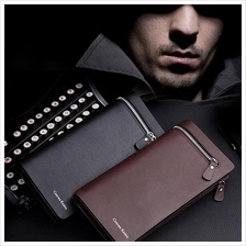 MT005151 European Fashion Business Men Long Zip Leather Wallet