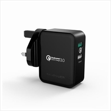 RAVPower RP-PC006 30W Quick Charge Dual USB UK Wall Charger (QC 3.0)