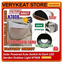 Solar Powered Auto Switch At Dark LED Garden Outdoor Light N760B