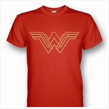 Wonder Woman T-shirt Metallic Gold Prints