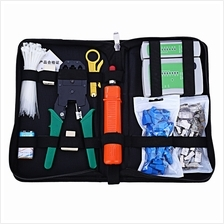 NETWORK COMPUTER MAINTENANCE TOOL KIT CABLE TESTER CRIMPER 50 RJ45 CAT5 CAT5E