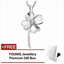 YOUNIQ Lucky Love 925 Sterling Silver Necklace Pendant Cubic Zirconia