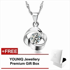 YOUNIQ Hana 925 Sterling Silver Necklace Pendant with Cubic Zirconia