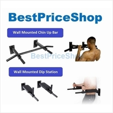 COMBO FitExperte Wall Mounted Dip Pull + Chin Up Bar Muscle Workout