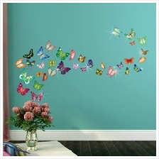 34PCS COLORFUL BUTTERFLIES WITH 38PCS AUTHENTIC SWAROVSKI ELEMENTS