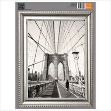 SILVER FRAME STICKER - BROOKLYN BRIDGE IN NEW YORK