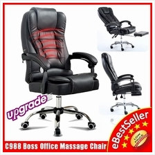 C988 BOSS Ergonomic Office Home Leather Massage Chair Kerusi Pejabat