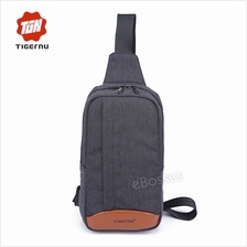 Men Women Fashion Chest Bag Canvas Casual Crossbody Bag Outdoor Sling Bag