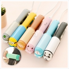 Cute Korean Mini Travel Portable Hair Curl Straightener Flat Iron Perm Splint