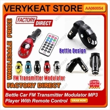 Bettle Car FM Transmitter Modulator MP3 Player With Remote Control