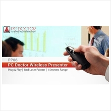 PC DOCTOR RED LASER POINTER 2.4GHZ CORDLESS PRESENTER (PP06)