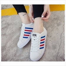 Mizora Women White Stripe Round Head Casual Sport Shoes (3 Color) Sold..