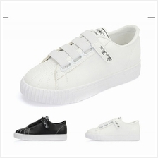 Mizora Women Simple Plain Casual Sport Shoes (Black/White) MT021153
