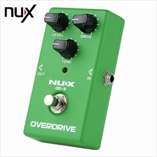 VINTAGE OVERDRIVE BOOSTER GUITAR EFFECT PEDAL (GREEN LIGHT)