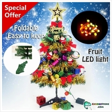 DIY foldable 60cm colorful Christmas/Xmas tree+7 mode fruit LED light