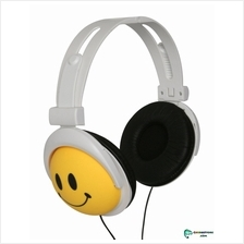 Mix-style stereo earphone headphone headset-happy smiley face