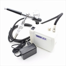 Mini Air Brush Compressor Airbrush Spray Gun Paint Makeup Tattoo Set