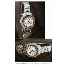 550523127692 full diamond women's waterproof jewelry fashion watch