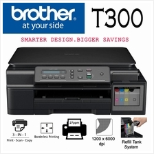 BROTHER DCP-T300 HYBRID INK PRINTER WITH ORIGINAL REFILL TANK SYSTEM