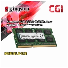 Kingston 8GB DDR 3 1600Mhz Low Voltage Sodimm Value Ram - KVR16LS11/8