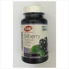 UHC Bilberry Vaccinium Myrtillus 375mg 60 Capsules Eye Supplement