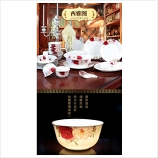 527583272388 bone china porcelain tableware 56 pcs set
