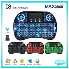 MAXGear Wireless Rii I8 Air Mouse Touchpad Keyboard Remote TV Box