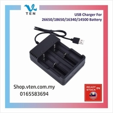 USB Charger For 26650/18650/16340/14500 Rechargeable Battery Pengecas