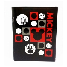 DISNEY RETRO MICKEY BLACK EXERCISE BOOK * Genuine licensed
