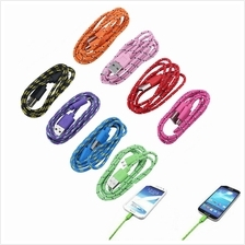 Micro USB Nylon Cable for Samsung HTC LG Sony Xiaomi Android FAST CHARGING