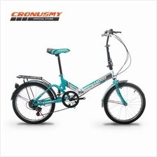 Asogo A1720621-BC 20' Folding Bike Foldable Foldie with 6 Speed
