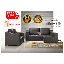 Dolphin Solitaire L Shape Sofa PU 2+3+Stool Seater (Free Shipping)