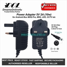 Power Adapter 5V 2A 5.5mm x 2.1mm TV Android Box MXQ Unblock Tech Ubox