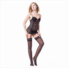 SUSPENDER PADDED LACE PATCHWORK BOWKNOT