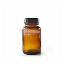 100ml Amber Glass Bottle with insert & black cap - 10 pieces per pack