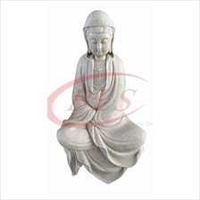 POLYRESIN H 30 CM SITTING GUAN YIN STATUE HOME DECORATION GIFT