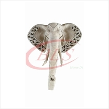POLYRESIN H 70 CM HANGING WALL ELEPHANT FACE DECORATION GIFT