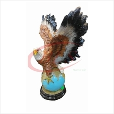 POLYRESIN H 65 CM FLYING EAGLE STANDING ON EARTH HOME DECORATION GIFT