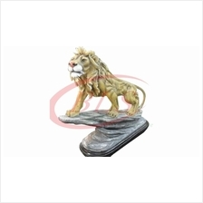POLYRESIN H 65 CM STANDING LION HOME FENG SHUI DECORATION GIFT