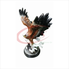 POLYRESIN H 45 CM FLYING STANDING EAGLE ON SNOW HOME DECORATION GIFT
