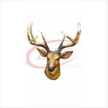 POLYRESIN H 48 CM HANGING WALL DEER HEAD DECORATION GIFT