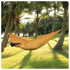 ONE PERSON ASSORTED COLOR PARACHUTE NYLON FABRIC HAMMOCK