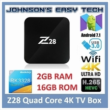 NEW 2017!! Z28 2G 16G Quad Core RK3328 Android 7.1 Smart 4K HD TV BOX