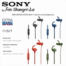 SONY MDR-XB510AS Sports ExtraBass SPLASH-PROOF In-Ear Headphones [Sony