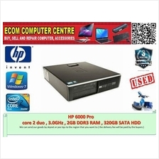 HP 6000Pro CORE 2DUO 3.0GHz,2GB DDR3 RAM,160GB HARDDISK