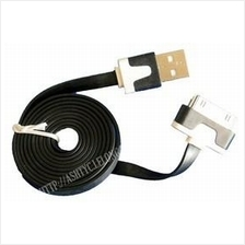 IPHONE 4 CHARGING DATA SYNC FLAT CABLE (COLOR)