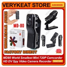 MD80 World Smallest 720P Camcorder HD DV Spy Video Camera Recorder